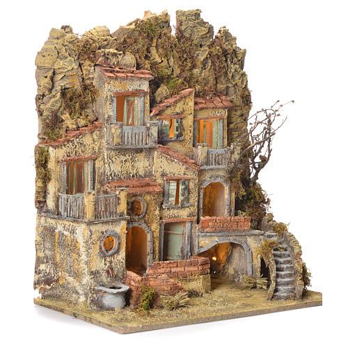 Borgo presepe napoletano con fontana elettrica 45X50X30 2