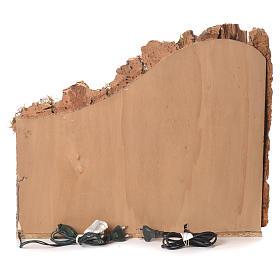 Pueblo presebre napoletano con fuente 45x50x30cm para figuras de 8/10 cm s4