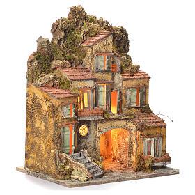 Borgo del presepe con fontana 55X45X35 per cm 8/10 s2