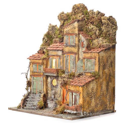 Borgo del presepe con fontana 55X45X35 per cm 8/10 3