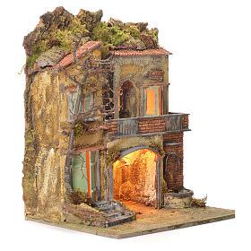 Borgo del presepe con fontana 65X45X35 per cm 10 s2