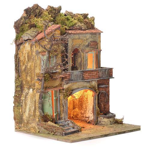 Borgo del presepe con fontana 65X45X35 per cm 10 2