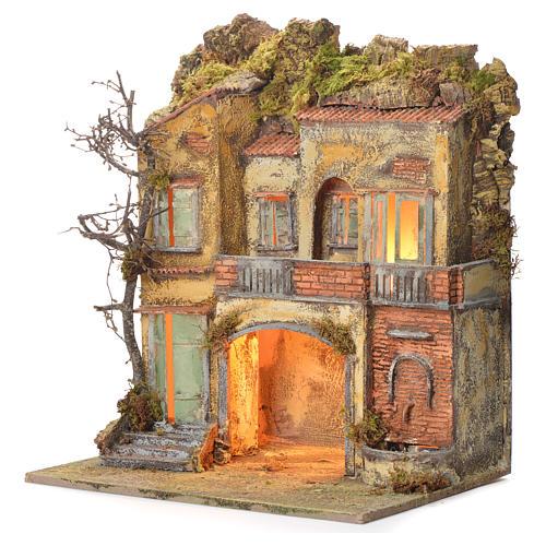 Borgo del presepe con fontana 65X45X35 per cm 10 3