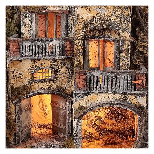 Village crèche avec petite fontaine 60x55x45 cm santons 10-12 cm 2