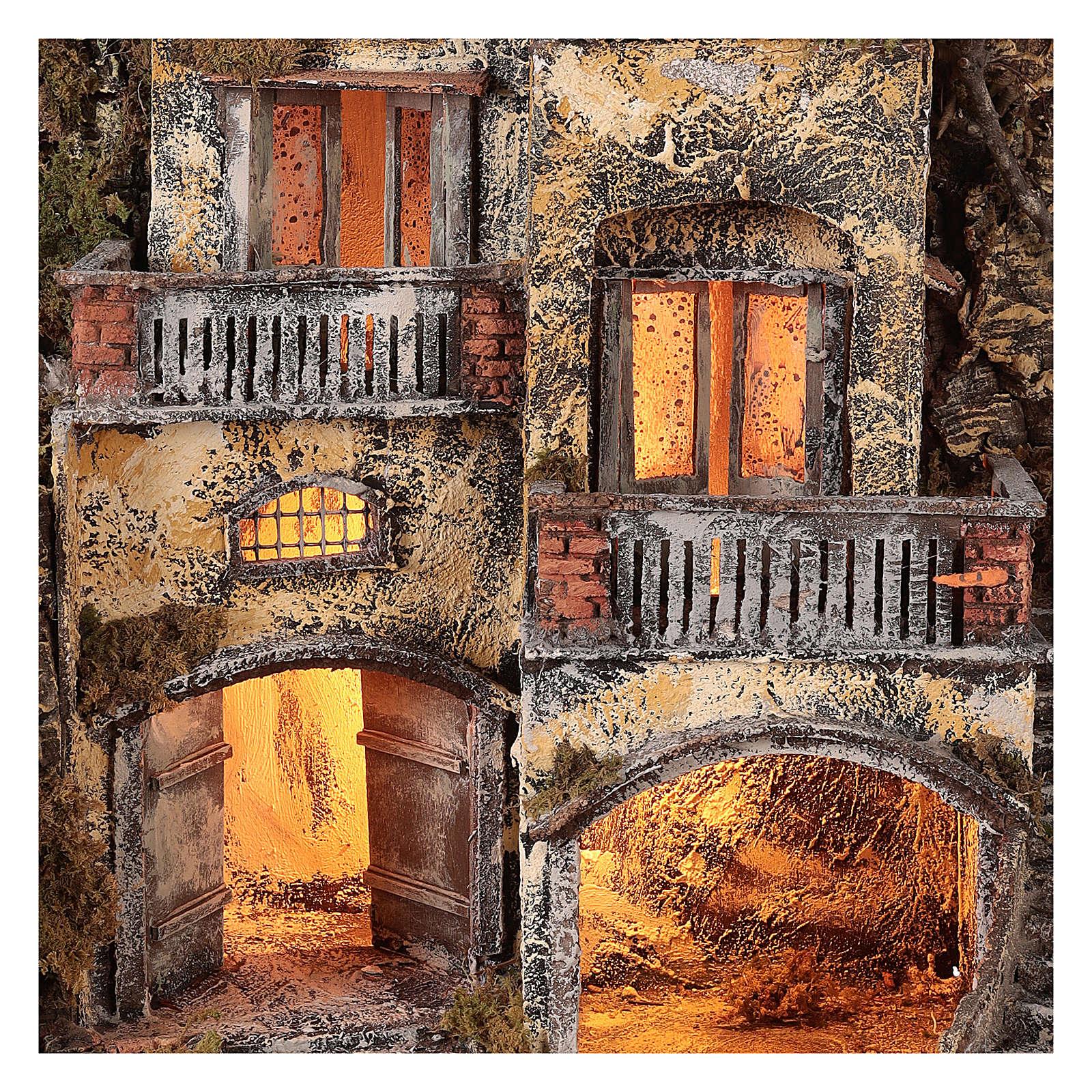 Borgo presepe con fontanella 60X55X45 per cm 10/12 4