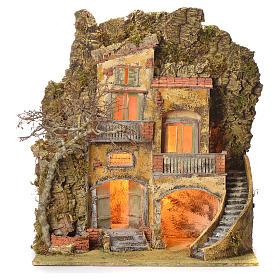 Borgo presepe con fontanella 60X55X45 per cm 10/12 s1