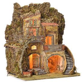 Borgo presepe con fontanella 60X55X45 per cm 10/12 s2