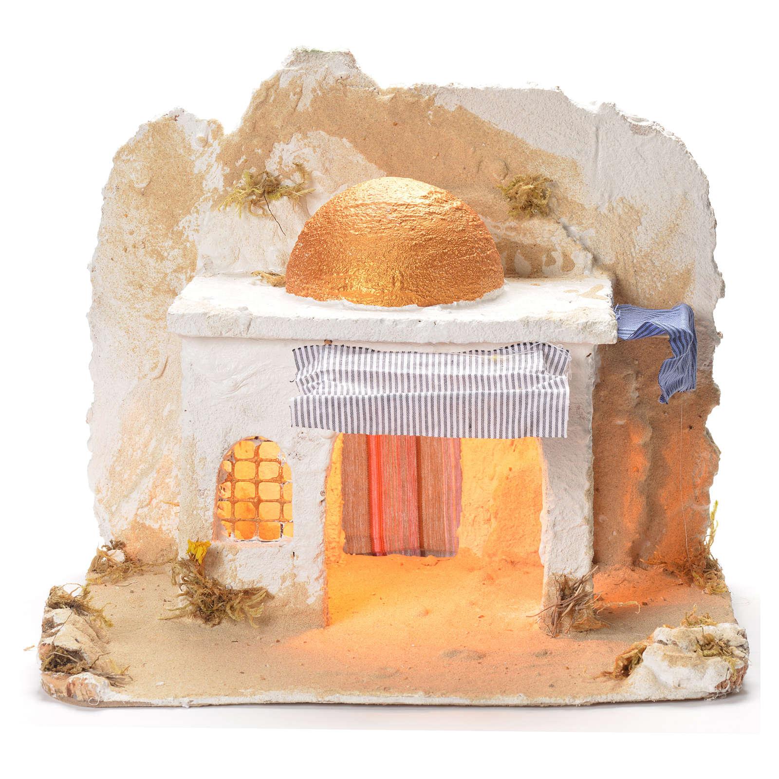Arabian cabin, Neapolitan Nativity 31x36x30cm 4