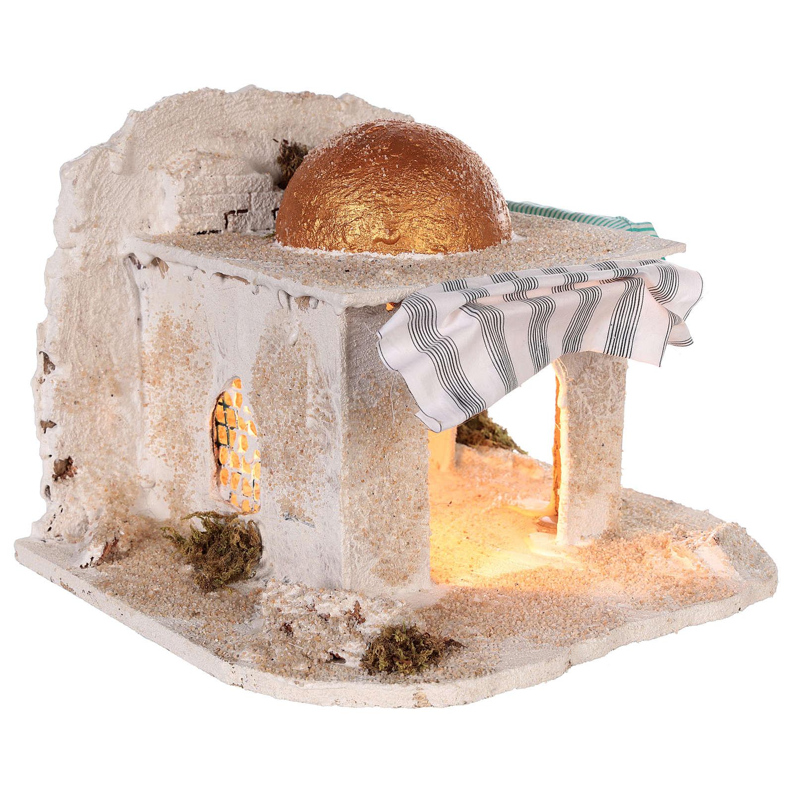 Cabaña árabe Belén napolitano 30x28x30 cm 4