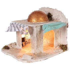 Cabaña árabe Belén napolitano 30x28x30 cm s2