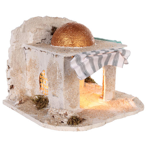 Cabaña árabe Belén napolitano 30x28x30 cm 3
