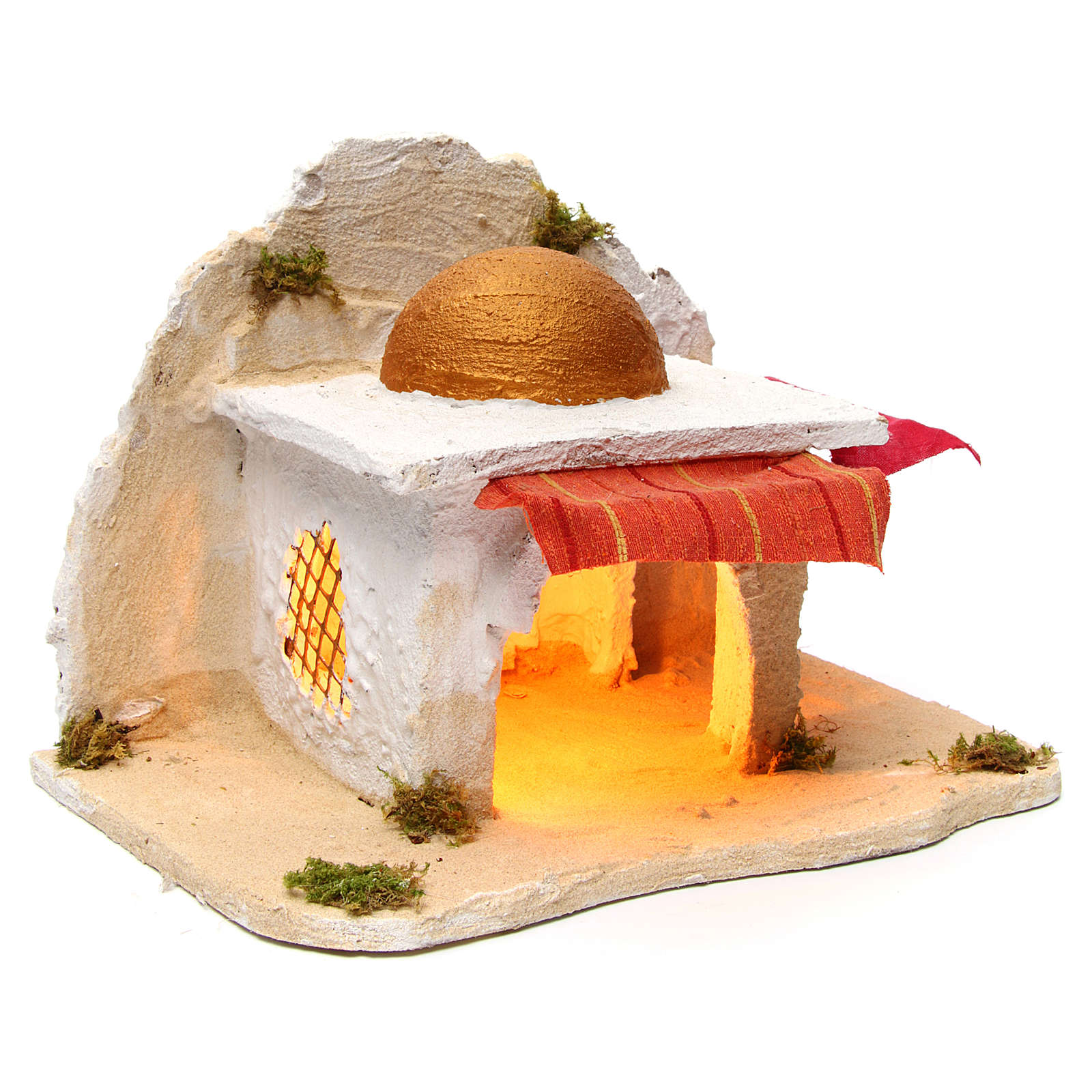 Neapolitan Nativity 30x28x30cm Arabian cabin 4