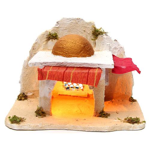 Neapolitan Nativity 30x28x30cm Arabian cabin 1