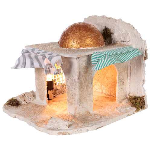 Neapolitan Nativity 30x28x30cm Arabian cabin 2