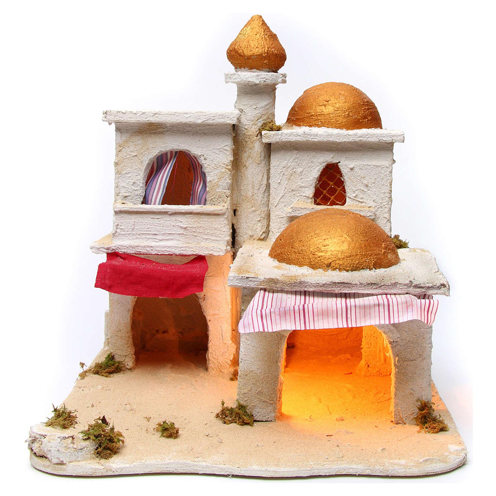 Arabian village, Neapolitan Nativity 43x43x40cm 4