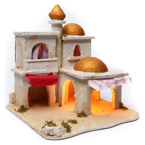 Arabian village, Neapolitan Nativity 43x43x40cm 3
