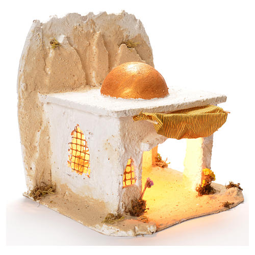 Cabane arabe pour crèche de Naples 35x35x35 cm 2