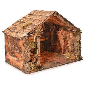 Capanna legno paglia presepe napoletano 36X51X29 s2