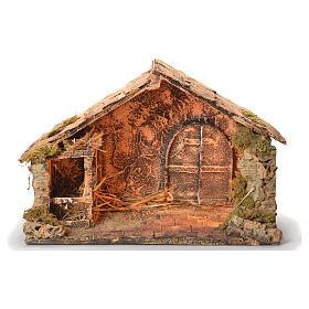 Wooden cabin, Neapolitan Nativity 30x49x29cm s1