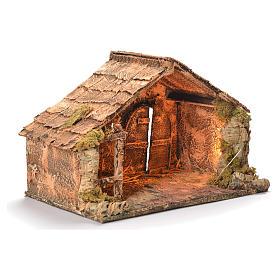 Wooden cabin, Neapolitan Nativity 30x49x29cm s2