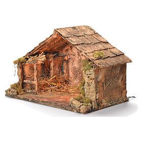 Wooden cabin, Neapolitan Nativity 30x49x29cm s3