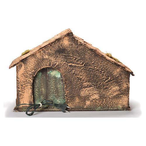 Wooden cabin, Neapolitan Nativity 30x49x29cm 4