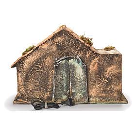 Wooden and straw cabin, Neapolitan Nativity 31x46x29cm s4