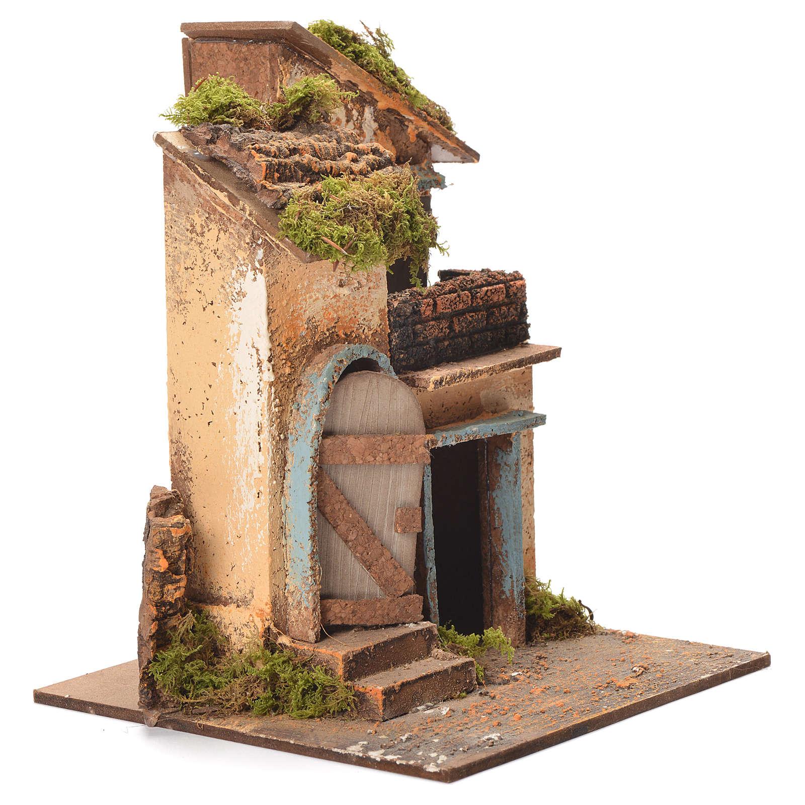 Maison crèche napolitaine 26x20x19 cm 4
