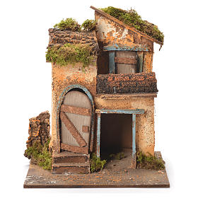 Maison crèche napolitaine 26x20x19 cm s1