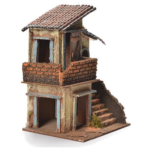 Maison en bois crèche napolitaine 31x20x19 cm 2