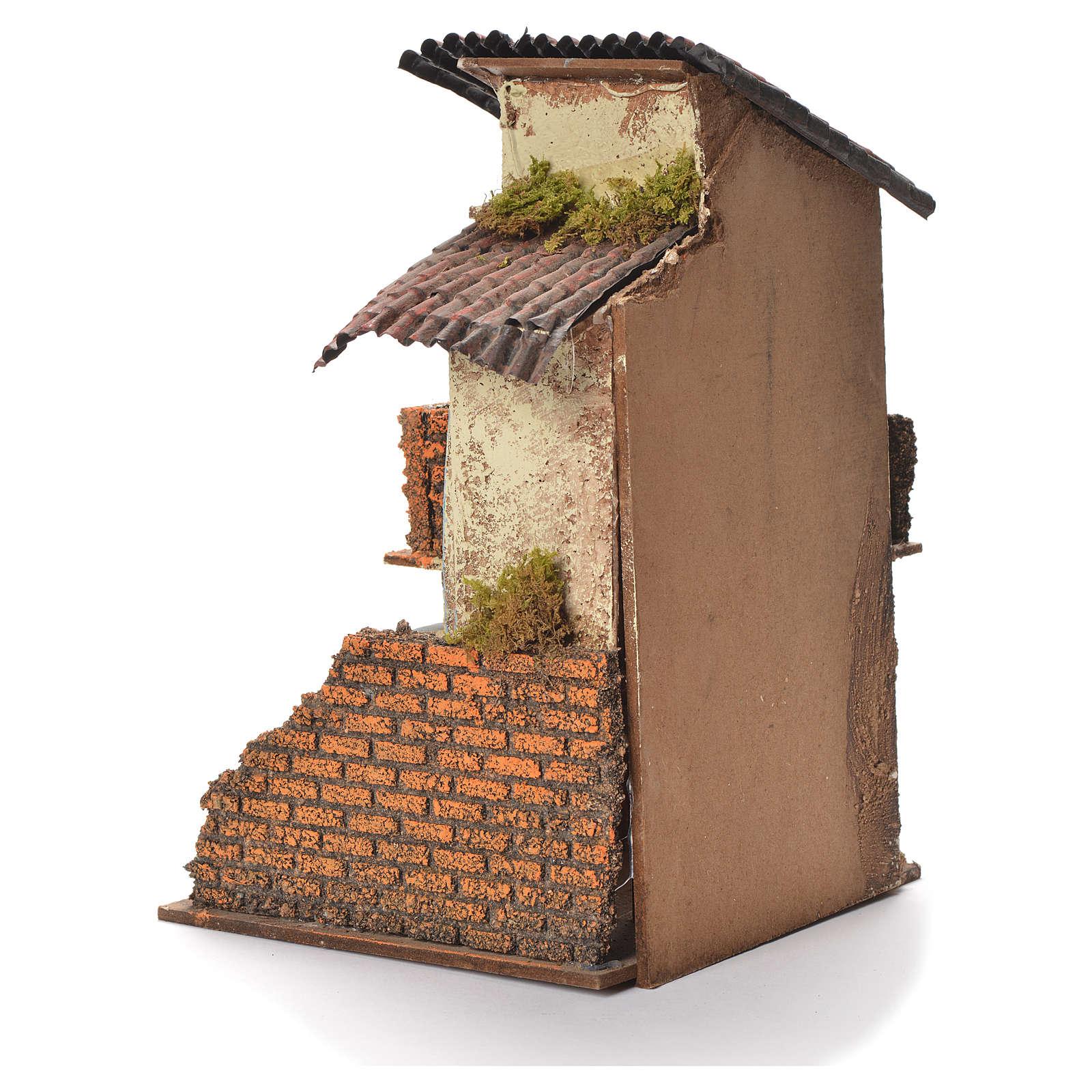 Casa in legno presepe napoletano 31X20X19 4