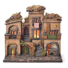 Neapolitan Nativity Village, 1700 style 45x35x33cm s1