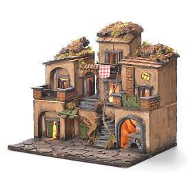Neapolitan Nativity Village, 1700 style 45x35x33cm s3