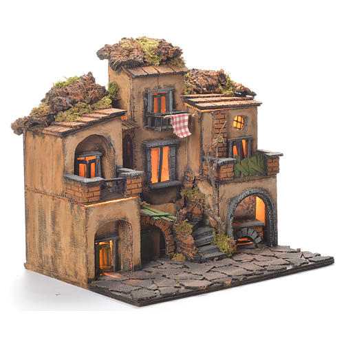Neapolitan Nativity Village, 1700 style 45x35x33cm 2