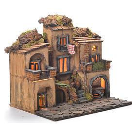 Borgo presepe stile 700 napoletano 45x35x33 s2