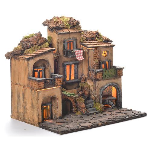 Borgo presepe stile 700 napoletano 45x35x33 2