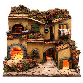 Neapolitan Nativity Village, 1700 45x35x33cm s1