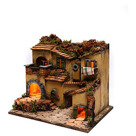 Neapolitan Nativity Village, 1700 45x35x33cm s2