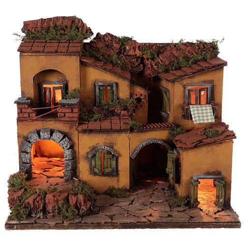 Neapolitan Nativity Village, 1700 45x35x33cm 5