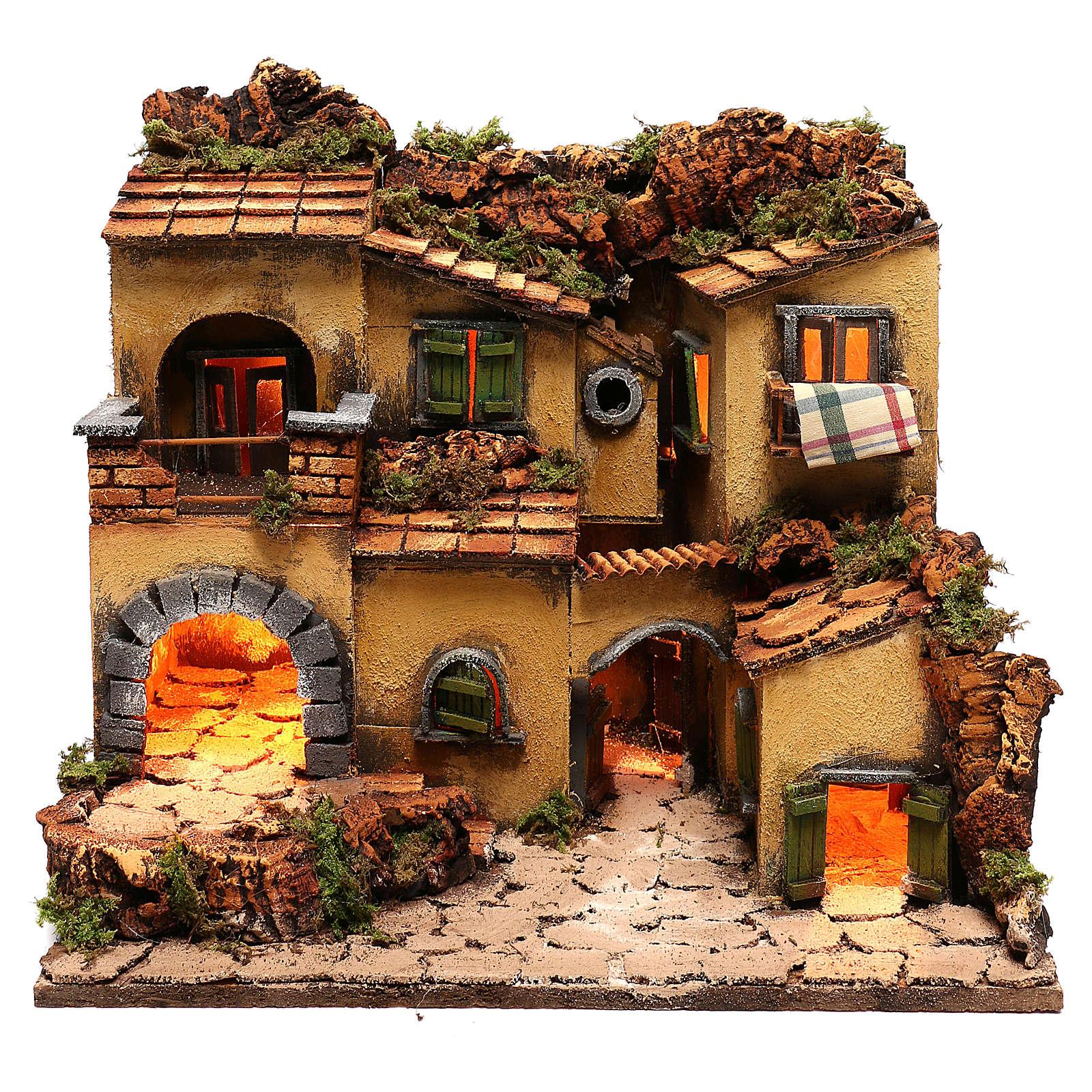 Village crèche en style 1700 Naples 45x35x33 cm 4