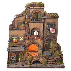 Village crèche en style 1700 Naples 45x35x33 cm s1