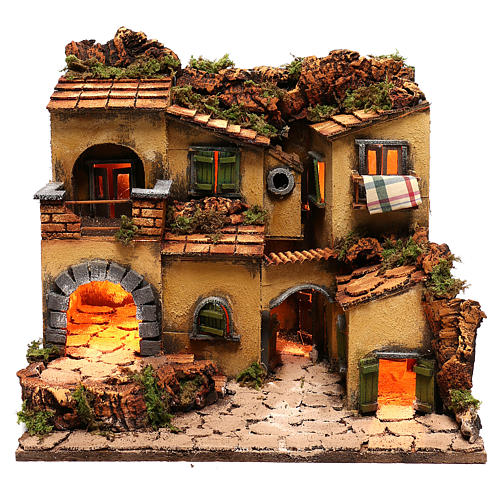 Village crèche en style 1700 Naples 45x35x33 cm 1