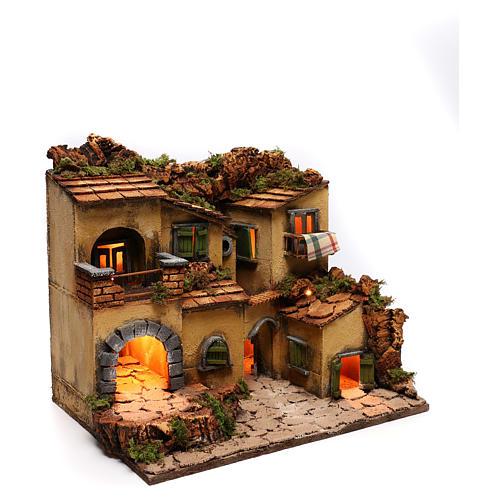 Village crèche en style 1700 Naples 45x35x33 cm 3