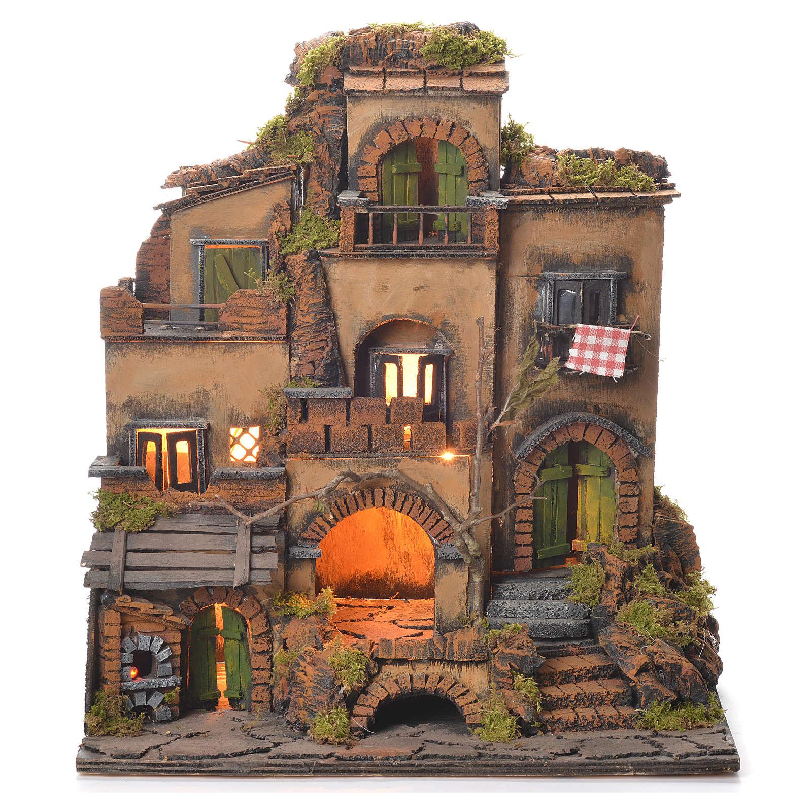 Borgo presepe stile 700 napoletano cm 45x35x33 | vendita