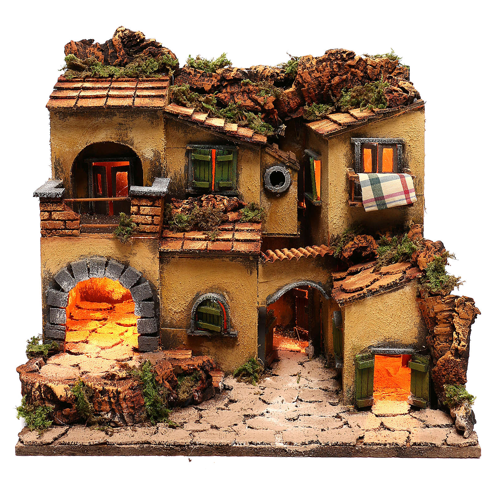 Neapolitan Nativity Village, 1700 45x35x33cm 4