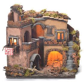 Neapolitan Nativity Village, 1700 style with well 32x35x30cm s2