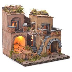Borgo presepe stile 700 con forno 35x30x30 s2
