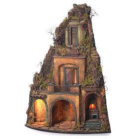 Borgo presepe Napoli stile 700 angolo forno 75x37x37 s3