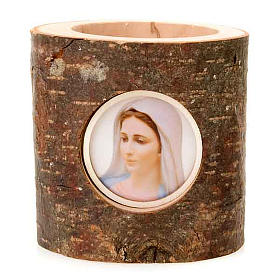 Enfeites de Natal para a Casa: Tronco natalino Virgem Maria adorno de Natal