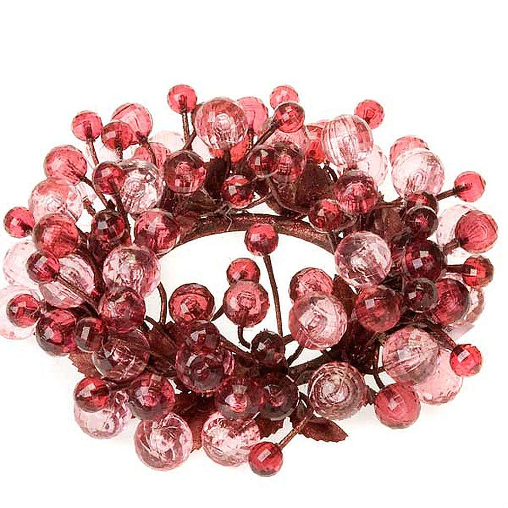 Anillo decoración bayas glitter 3